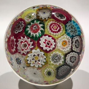 Early Murano Art Glass Paperweight Large Complex Millefiori Multicolored cushion