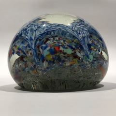 Antique Bohemian Art Glass Paperweight Millefiori Scramble Aladdin's Cave