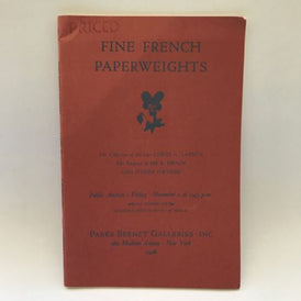 Parke Bernet November 1, 1968 Auction Catalogue Fine Glass French Paperweights