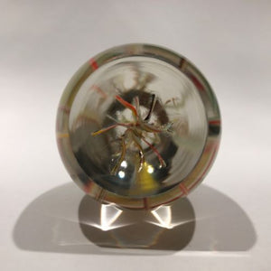 "Vintage Strathearn Art Glass Paperweight Large Modern Branched ""Tropics"" Design"
