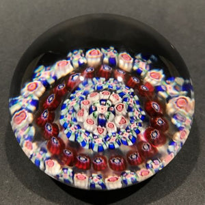 Antique Baccarat Art Glass Paperweight Open Concentric Complex Millefiori