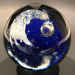 Vintage Unsigned Caithness Art Glass Paperweight Modern Shooting Star Design