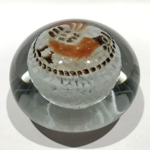 Vintage Blenko Art Glass Paperweight Colored Frit Rooster