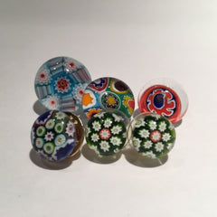Lot Art Glass Paperweight Millefiori Buttons Jewelry Caithness Gooderham Murano