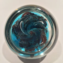 Large Signed Steven Mildwoff Milropa Modern Art Glass Paperweight