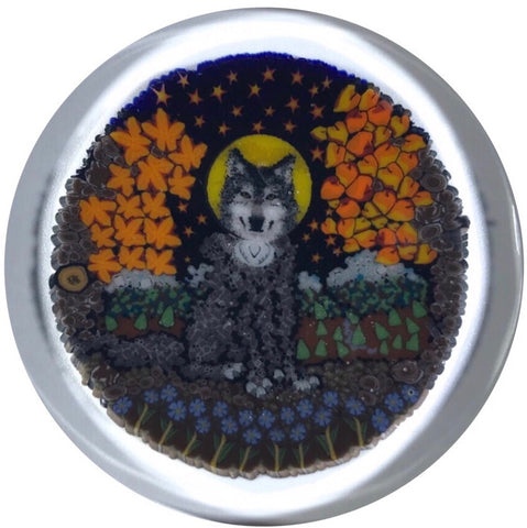 "Contemporary Tara Roberts & Jason Lee Collaboration Complex Murrine ""Wolf in the Forest"""
