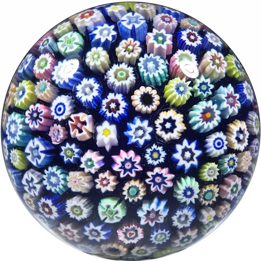 John Deacons 2018 Art Glass Paperweight Medium Closepack Millefiori