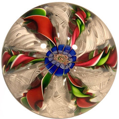 Rare Miniature Antique Saint Louis Art Glass Paperweight Millefiori Crown