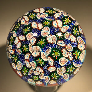 Modern Murano Art Glass Paperweight Closepack Millefiori Carpet Ground 3