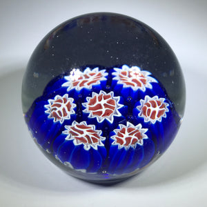 Vintage Murano Miniature Art Glass Paperweight with Complex Millefiori