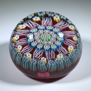 Vintage Perthshire Miniature Art Glass Complex Millefiori and Latticino PP198