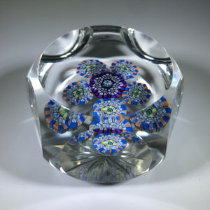 Vintage Perthshire Faceted Art Glass Paperweight Patterned Complex Millefiori PP14