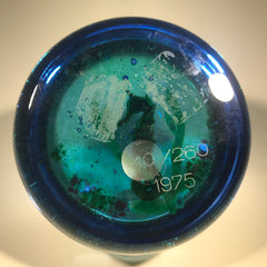 Baccarat Art Glass Paperweight Limited Edition Lampwork Seahorse 1975