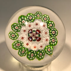 Antique Baccarat Miniature Art Glass Paperweight Concentric Complex Millefiori
