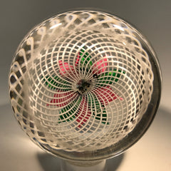 Antique New England Glass Co. NEGC Art Glass Paperweight Poinsettia on Basket