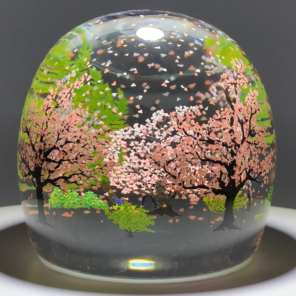 Alison Ruzsa 2020 Encapsulated Hand Painted Enamels Cherry Blossom Flurry