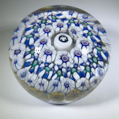Antique New England Glass Co. NEGC Art Glass Paperweight Complex Millefiori w/ Eagle Silhouette