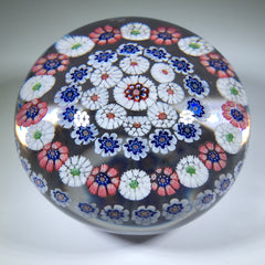 Antique Baccarat Art Glass Paperweight Open Concentric Complex Millefiori w/ Arrow Cane