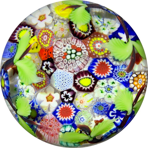 Chris Sherwin 2019 Closepack Complex Millefiori with Nosegay Decoration on White