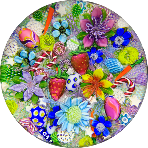 Ken Rosenfeld 2019 Complex Lampwork Scramble w/ Flowers, Strawberries, Easter Eggs and more