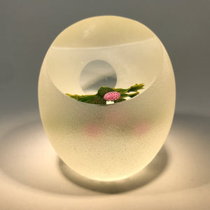 Limited Edition Perthshire Art Glass Paperweight Lampwork Scottish Thistle 1998C