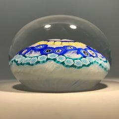 Baccarat Art Glass Paperweight Complex Millefiori with Large Hunter Gridel