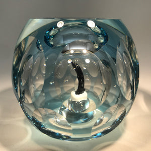 Vintage Perthshire Faceted Art Glass Paperweight Hollow Blown Encased Penguin