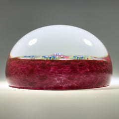 Signed Val St. Lambert Art Glass Paperweight Patterned Complex Millefiori