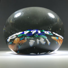 Antique Union Glass Co. Art Glass Memento Paperweight Lampwork Poinsettia