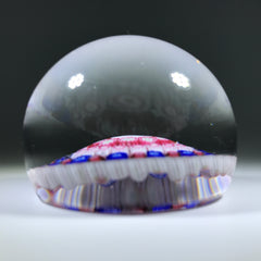 "Early 20th Century Baccarat ""Dupont"" Art Glass Paperweight Millefiori Faux 1849 Date"