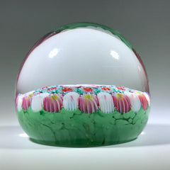 Vintage Murano Art Glass Paperweight Concentric Ruffled Millefiori