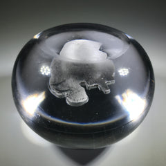 Antique French Art Glass Paperweight Detailed St. Francis Sulphide