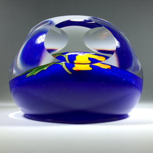 Modern Art Glass Paperweight Lampwork Perthshire 2001 LE Symbols of Christmas