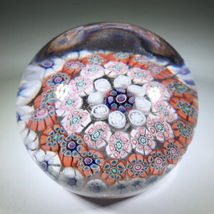 Antique New England Glass Co. NEGC Art Glass Paperweight Concentric Millefiori