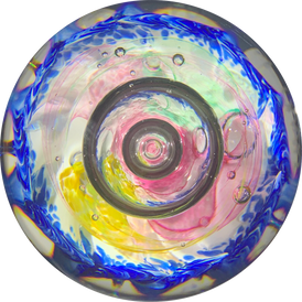 "LE Selkirk Glass Scotland 2000 ""Riviera"" Abstract Limited Edition Glass Art Paperweight"