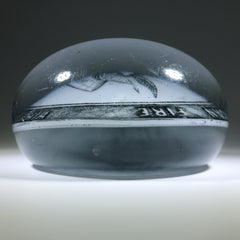 Antique William Maxwell Art Glass Advertising Paperweight The American Fire Philadelphia