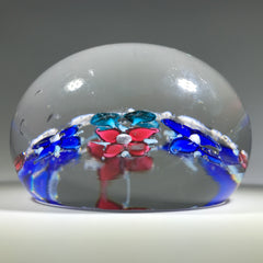 Antique Union Glass Co. Art Glass Paperweight Hellem Lampwork Flower Garland