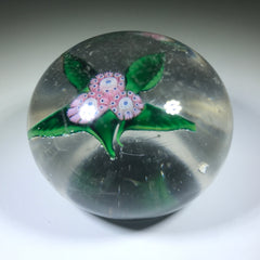 Antique New England Glass Co. NEGC Art Glass Paperweight Millefiori Nosegay