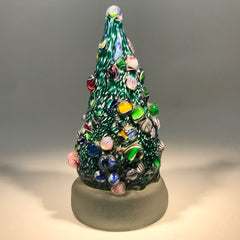 Cape Cod Glass Works Art Glass Paperweight Millefiori Christmas Tree