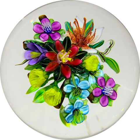 Ken Rosenfeld Encapsulated Lampwork Flower Bouquet
