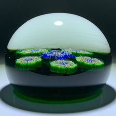Vintage Perthshire Paperweights PP10 Patterned Millefiori On Green