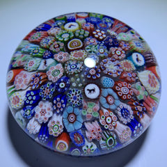Antique Baccarat B1848 Complex Millefiori Closepack with Animal Silhouette Canes