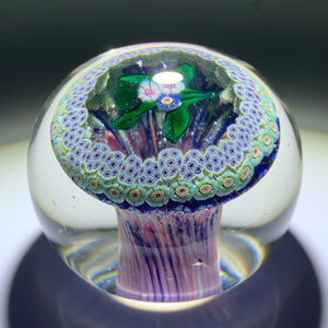 Very Rare Antique New England Glass Co. Art Glass Paperweight Nosegay Millefiori Mushroom
