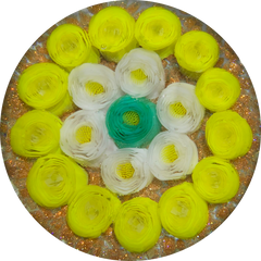 James Hart Concentric Clichy Style Millefiori Roses on Aventurine Ground