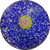 Antique Saint-Louis Complex Pistachio Millefiori on Blue Jasper Ground