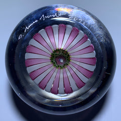Damon MacNaught 2020 Concentric Complex Millefiori With Rose Canes in Pink & White Staves