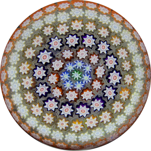 Perthshire Paperweights PP4 Concentric Millefiori on Clear Ground