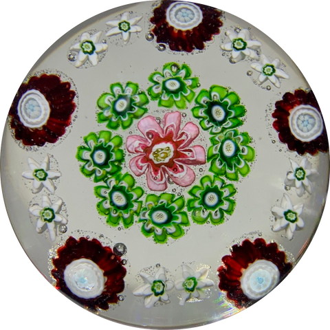 Antique Clichy Miniature Miniature Open Concentric Millefiori