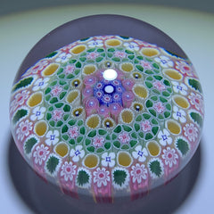 Damon MacNaught 2020 Complex Concentric Millefiori With Pink Rose Canes