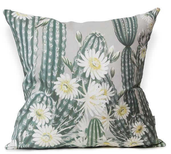 This cactus inspired cushion boasts a lush cluster of blooming cacti and is an exclusive design by Australian artist Bethany Linz. This is the perfect pop of colour and luxe addition to style and decorate any space.